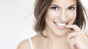 smiling young girl - teeth whitening